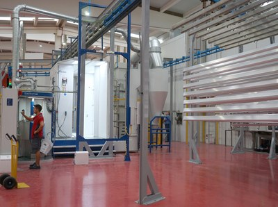 In-house powder coating line with maximum process control and highest product quality
